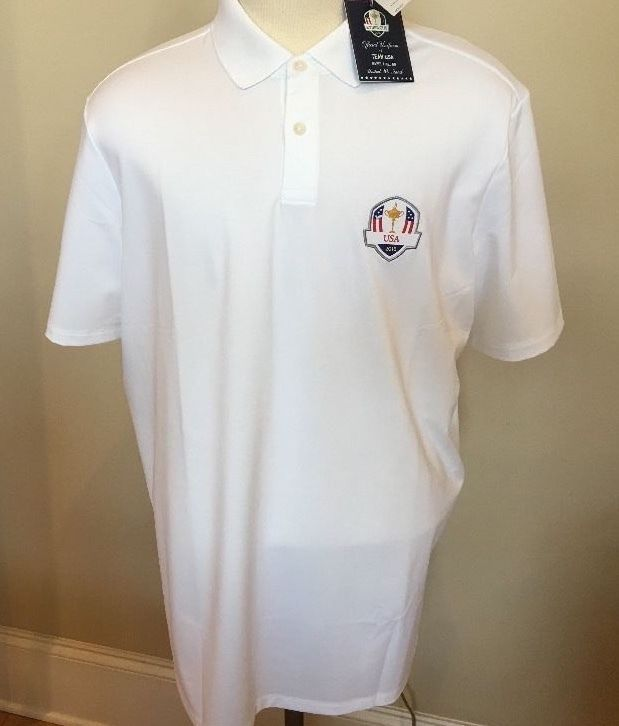 2016 Ryder Cup Shirt Men Sz XL Ralph Lauren RLX White Team Polo Golf XLarge New  #RLXRalphLauren #PoloRugby