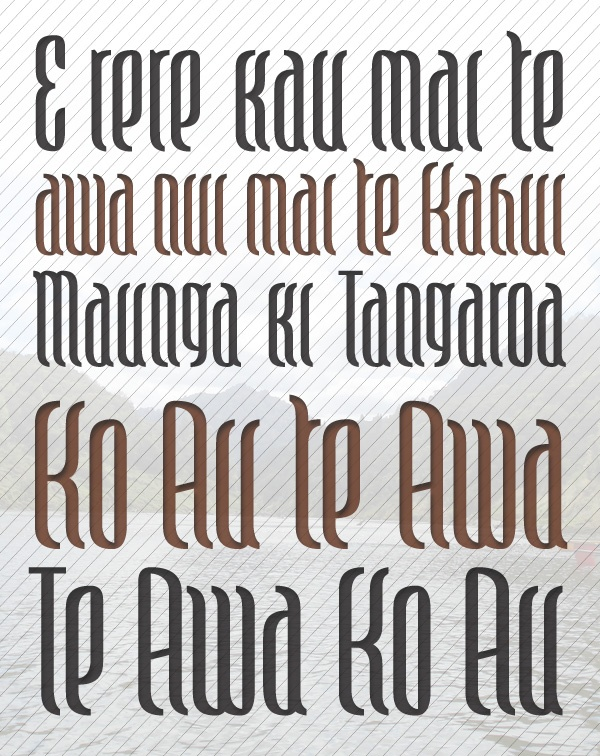 maori font in development by Johnson Witehera