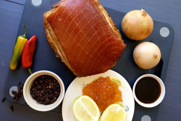 Christmas ham ingredients