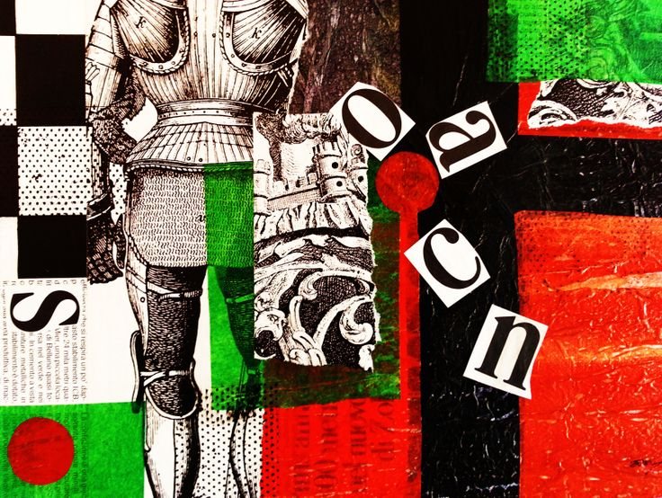 """""""A Knight's Tale"""" 16"""" x 20"""" mixed media by Alison Marshall"""