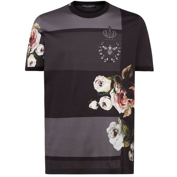Dolce & Gabbana Floral Print T-Shirt ($255) ❤ liked on Polyvore featuring…