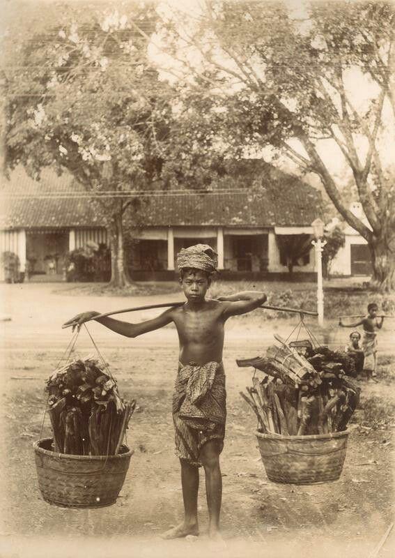 Houtdrager, vermoedelijk bij Batavia. 1905