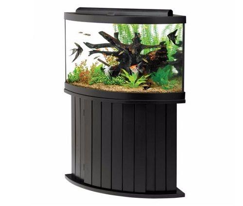 Aqueon 54 gallon corner aquarium with stand