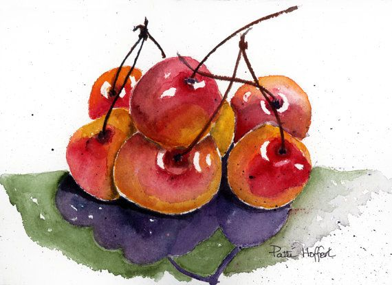 Red Cherries by PattiHoffert on Etsy, $20.00