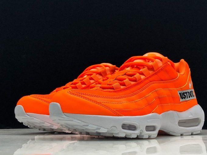 "New Nike Air Max 95 Custom ""Just Do It"" Total OrangeWhite"