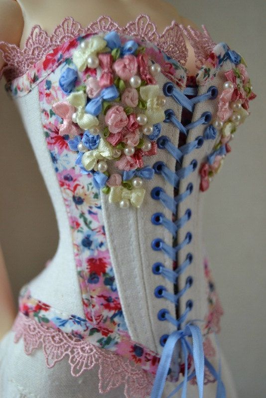 Pattern doll corset corset supergem bjd clothes by NikaNikaShopBJD