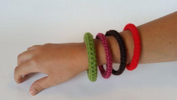 15%OFF!!! Apply code BUMYCRAFTSEPT during checkout https://www.etsy.com/uk/listing/245720771/crochet-bracelets-red-green-brown