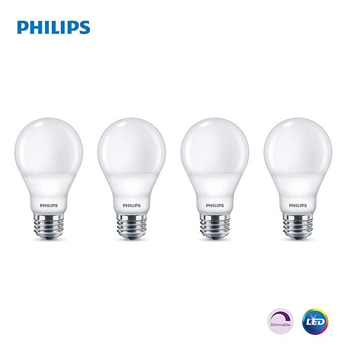 Philips Led Dimmable A19 Soft White Light Bulb With Warm Glow Effect 800 Lumen 2700 2200 Kelvin 6 5 Wat Dimmable Led Lights Led Light Bulb White Light Bulbs