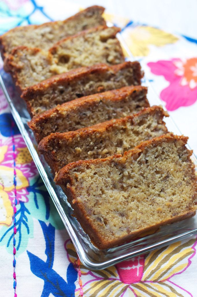 The Best Banana Bread (ever.) via The Baker Chick. -  this could be adapted a bit more to be even more healthy!