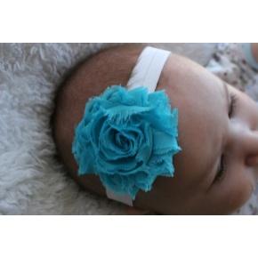 Simply Beautiful Qua and White!: Chiffon Flowers, Babies, Blue Baby, Flowers Headbands, Baby Headbands, Baby Bows, Adult Headbands, Rose Headbands, Baby Graham