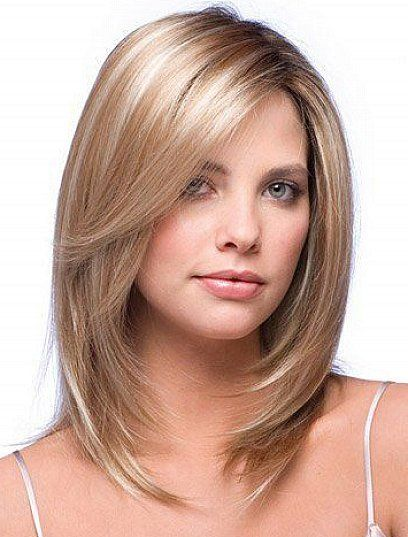 pretty women with bob haircuts for shoulder length hair with side bangs and layers for blonde thin fine hair