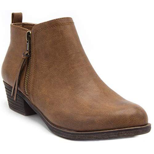 34656a4c61c Sugar Women s Truffle Ankle Bootie Boot Zipper Closure Brown 7 ...