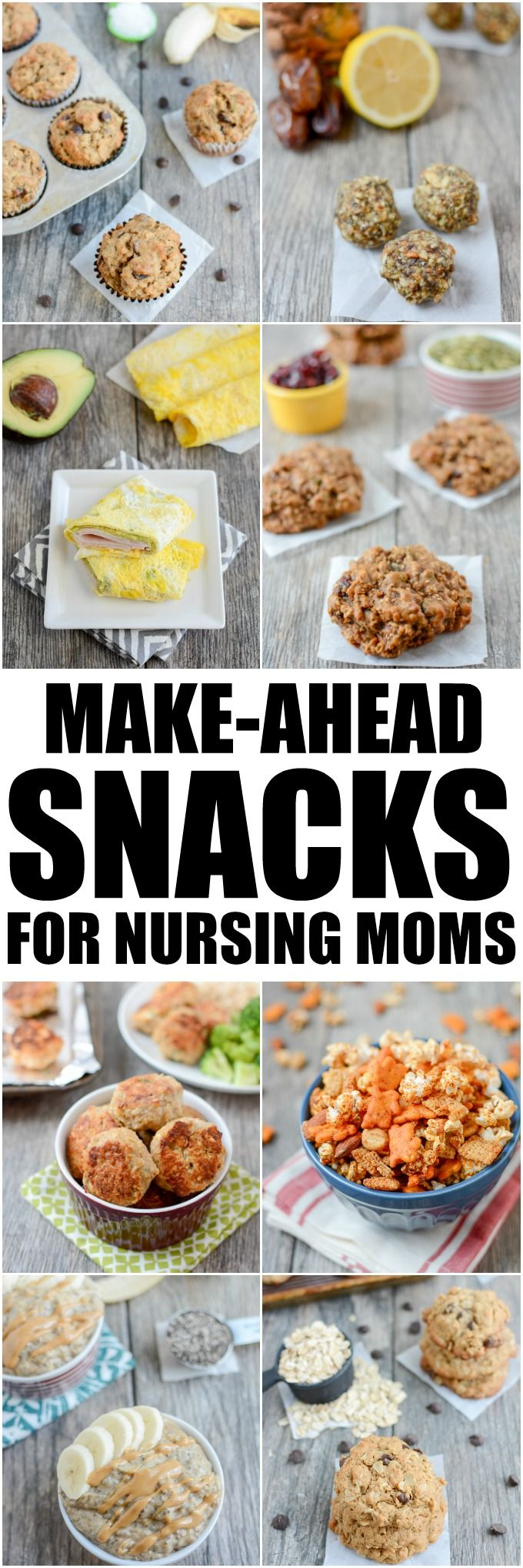 These Make-Ahead Snacks For Breastfeeding Moms are easy, healthy recipes to help keep your body fueled and energized while nursing.