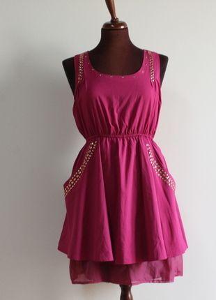 Compra il mio articolo su #vinted http://www.vinted.it/abbigliamento-da-donna/vestitini-corti/59006-vestito-fuxia-taglia-m-l-con-borchie