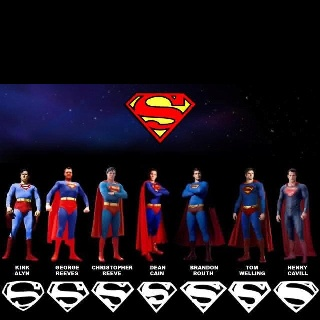 Kirk Alyn, George Reeves, Christopher Reeve, Dean Cain, Brandon Routh, Tom Welling and Henry Cavill.