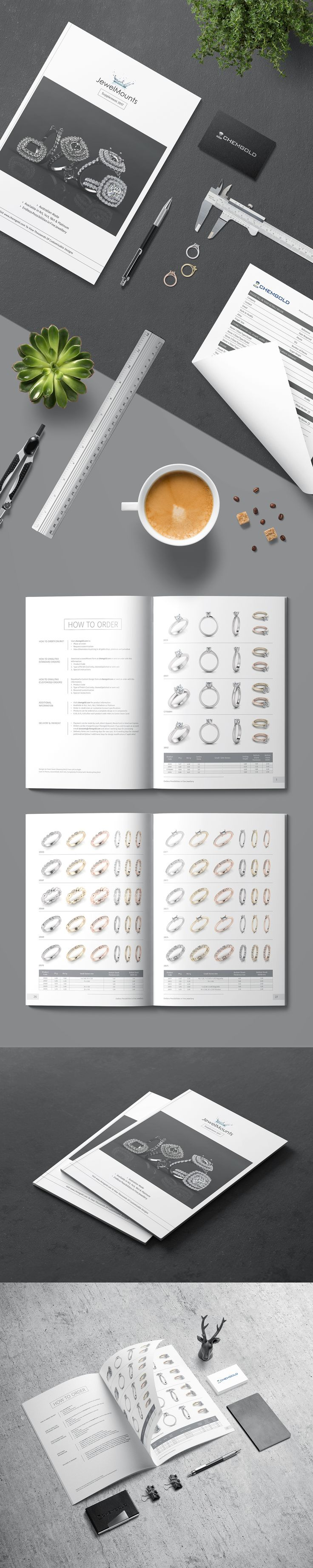 From Studio: Clean minimal catalog for Chemgold, classic Australian made fine jewellery based in Alexandria, New South Wales. Catalog itself consist of 36 minimal pages on A4 created with Adobe InDesign CC. #australia #booklet #brand #brochure #catalog #clean #creativestudio #design #gold #graphic #graphicdesign #indesign #jewelry #layout #minimal #minimalism #minimalist #mockup #print #printdesign #professional #project #rings #studio #wedder #wedding #white #work