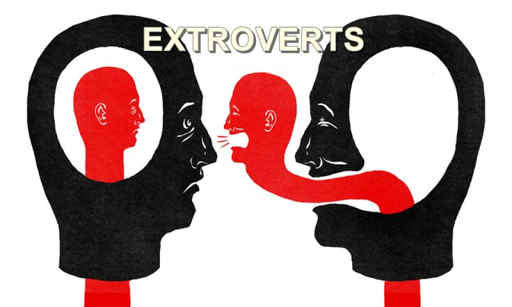 In contrast with the introverts, the extroverts are often described as being more talkative, sociable and out-going. They are more people-oriented.