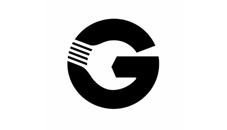 Gotts Van & Car Service Centre logo. Great use of negative space to create a spanner within the G. #design