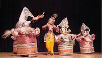 Manipuri dance depicting krishna raas leela- India