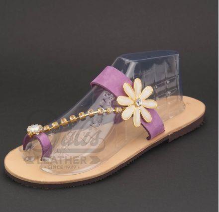 Πέρλα Λευκή, Χρυσή Αλυσίδα κρύσταλλα Swarovski, Μαργαρίτα Ακρυλικές Πέτρες Περλέ #Swarovski #sandals #leathersandals #accessories #handmadesandals