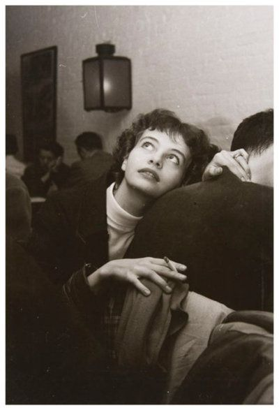 Girl with Cigarette, Limelight Gallery  by Weegee (c1955)