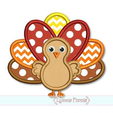 Embroidery Designs - Thanksgiving Turkey Applique 4x4 5x7 6x10 SVG - Welcome to Lynnie Pinnie.com! Instant download and free applique machine embroidery designs in PES, HUS, JEF, DST, EXP, VIP, XXX AND ART formats.