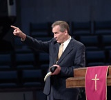 When I was in high school, my mentor John Howell would take me to see Adrian Rogers at the Cove (Billy Graham Training Center) every year.  For me, it was like drinking from a fire hose - there was just so much to absorb!  He had a warm style that was at the same time convicting and challenging.  His alliterative style has had more than a small influence on my own style!