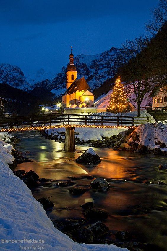 Christmas in Ramsau church - Berchtesgaden, Germany