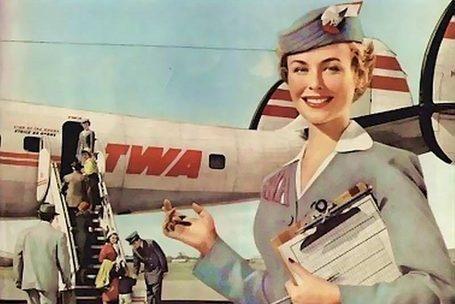 TWA with its Lockheed Super Constellation