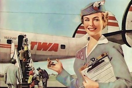 TWA with its Lockheed Super Constellation