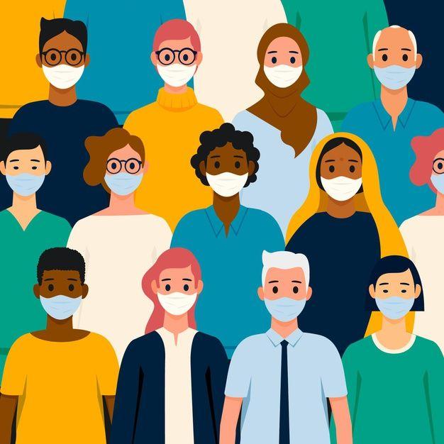 People Of All Nationalities Wearing Mask Free Vector Freepik Freevector Medical Batik Design Illustration Character Design Nurse Art Cool wallpapers of people wearing masks