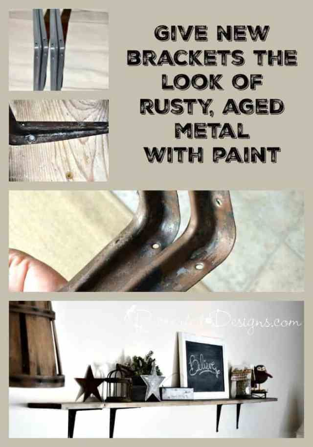 Painting rusted metal shelves