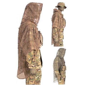 Cord-based grid netting allows for environmentally-specific camo customization