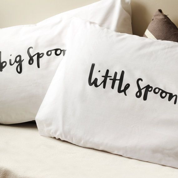 Spooning Pillow case set 2 pillow covers Home by OldEnglishCo