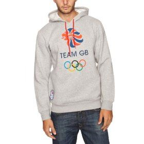 London 2012 Team GB Men's Hoody - Medium Grey Heather, Large for just £23.99