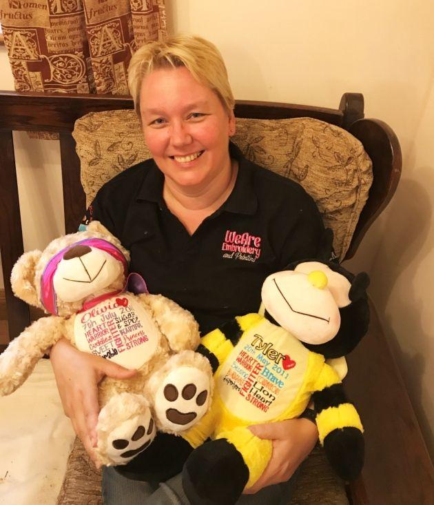 Somerset mum helps create personalised teddy bears for terminally ill children http://cstu.io/148bd1