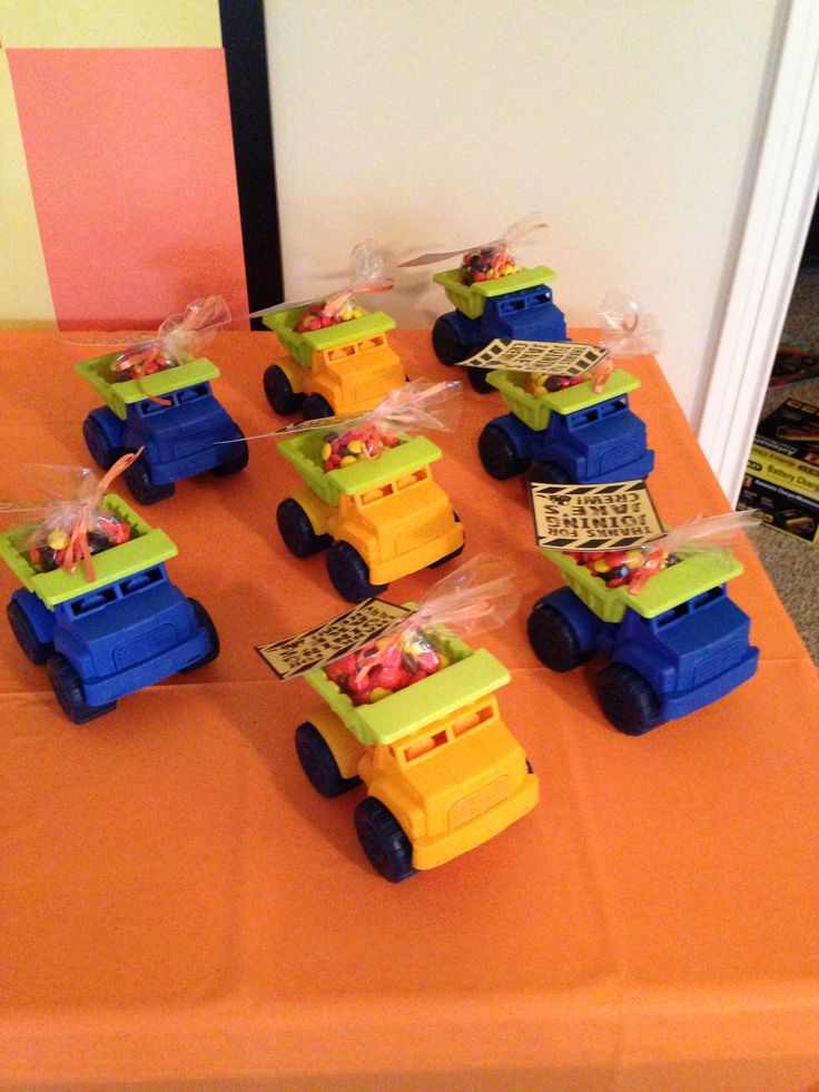 Party favors - construction site birthday