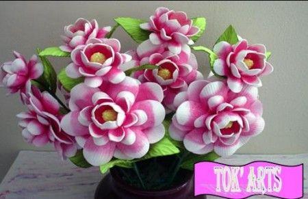 Flores em EVA: Con Flora, Artesanato Eva, Flore Ems Eva, Flore Tecido Eva Crepom, Art Ems Flore, Arte Ems Flore, Eva Foami, De Eva, Eva Tuto