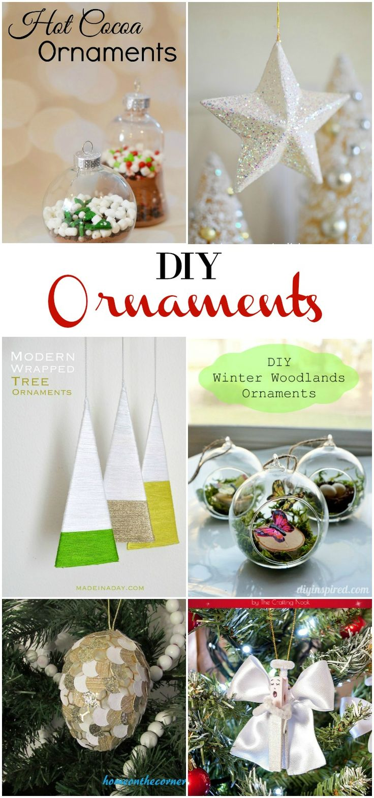 DIY Ornaments perfect for adorning any tree