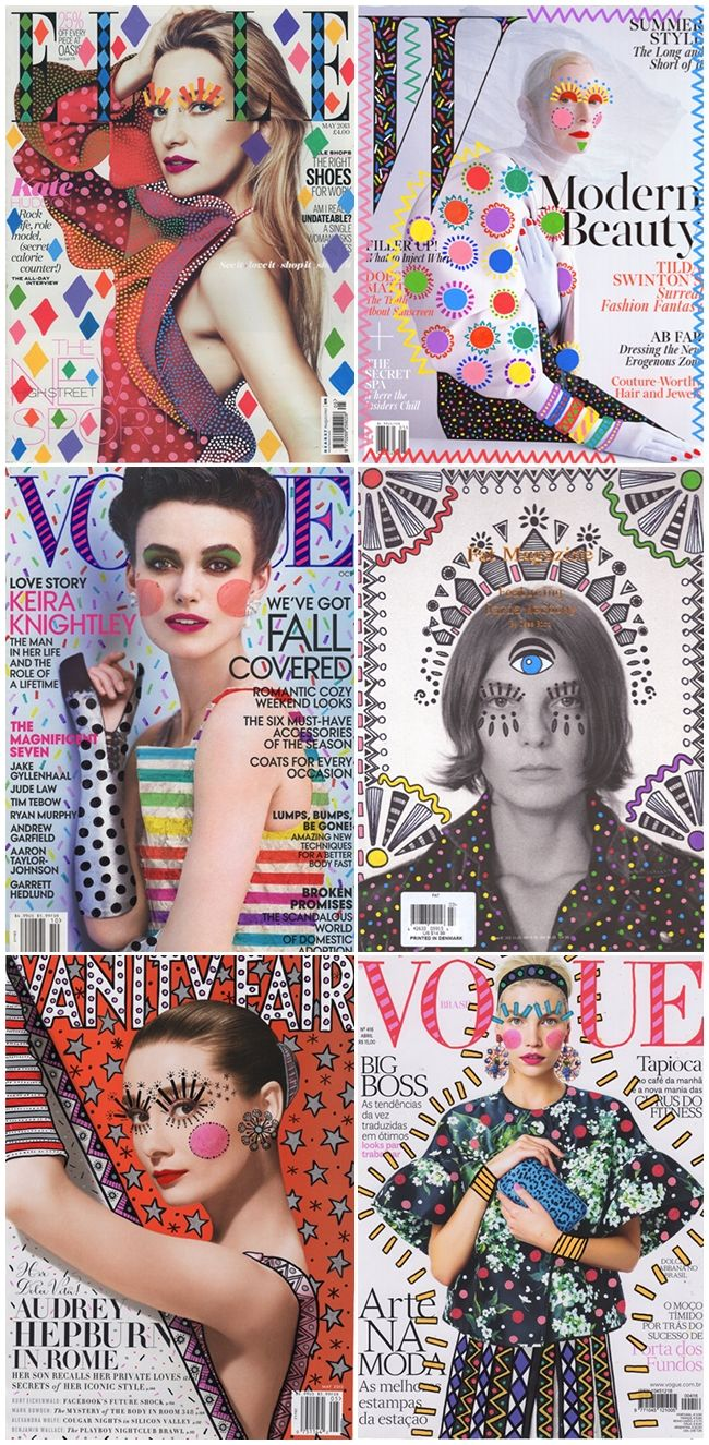 How fun are these fashion magazine covers so brilliantly electrified by Brazilian interior designer Ana Strumpf?
