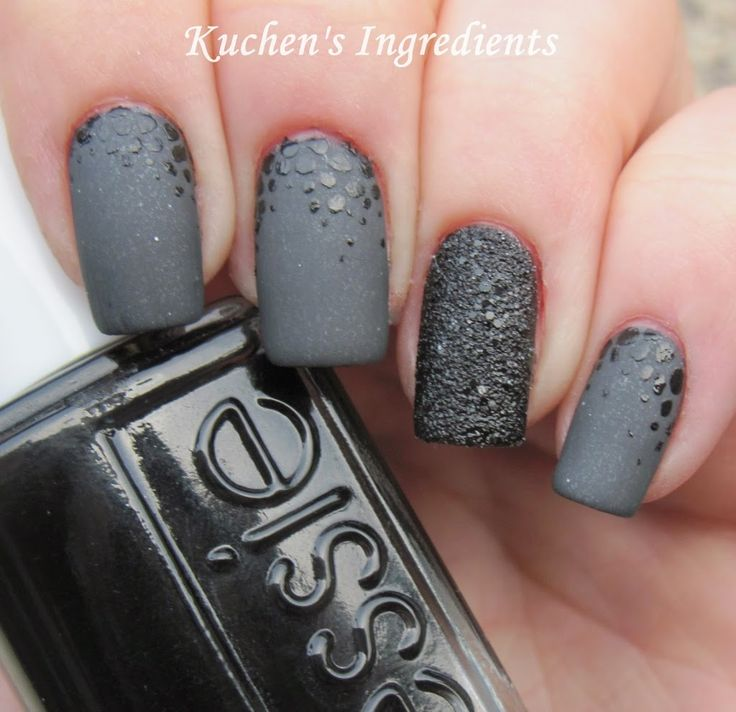 matte nails grey - Hledat Googlem - Best 25+ Matte Nail Art Ideas On Pinterest Matte Black Nails