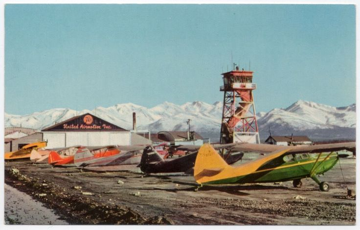 Postcard Airplanes at Merrill Field Airport in Anchorage, Alaska~107668