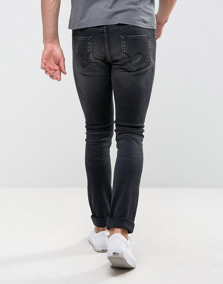 Edwin ED-90 Skinny Straight Jeans Goth Black - Black