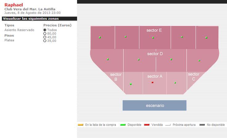 Zonas y precios online #Concierto #Raphael en #Lepe #LaAntilla #Huelva