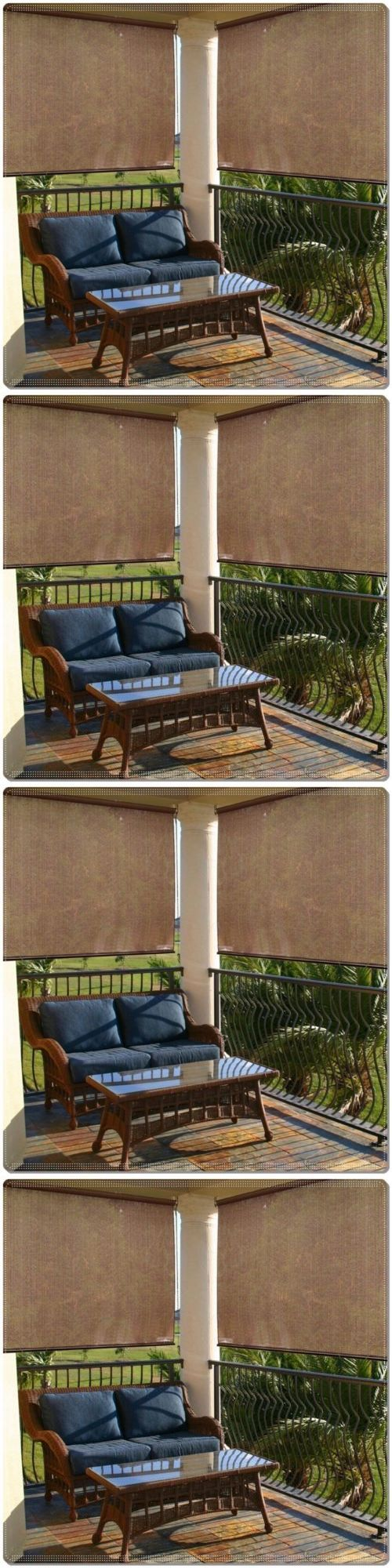Blinds And Shades 20585: 72 X72 Roll Up Porch Shade Patio Outdoor Window  Sun Solar