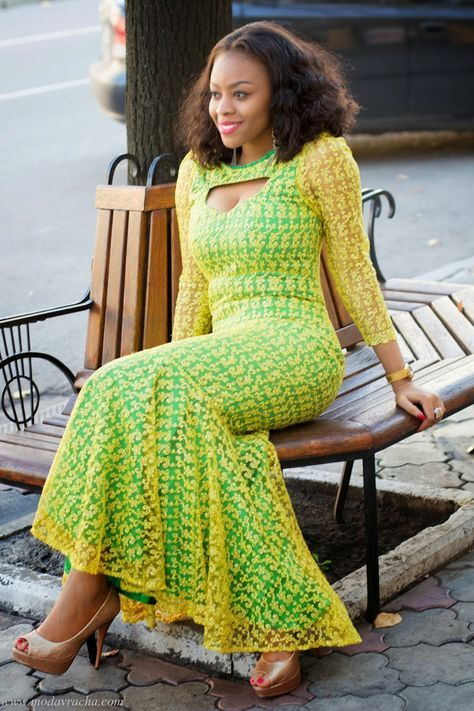 Ankara Style Long Gown ~Latest African Fashion, African Prints, African fashion styles, African clothing, Nigerian style, Ghanaian fashion, African women dresses, African Bags, African shoes, Kitenge, Gele, Nigerian fashion, Ankara, Aso okè, Kenté, brocade. ~DK