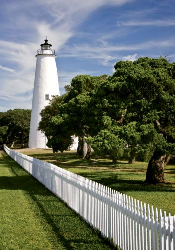 Ocracoke Island Lighthouse in the Outer Banks of North Carolina! One of my favorite places of all time!
