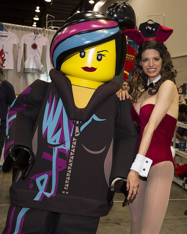 Wyldstyle / Lucy cosplay and Jessica Rabbit by Kay Pike at FanExpo Vancouver 2014