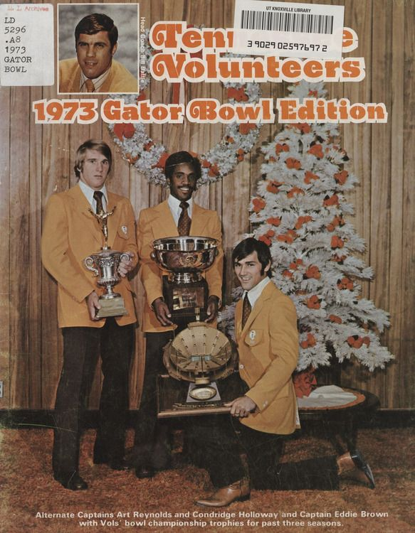 1973 Football Bowl Guide - UT vs Texas Tech (Gator Bowl)