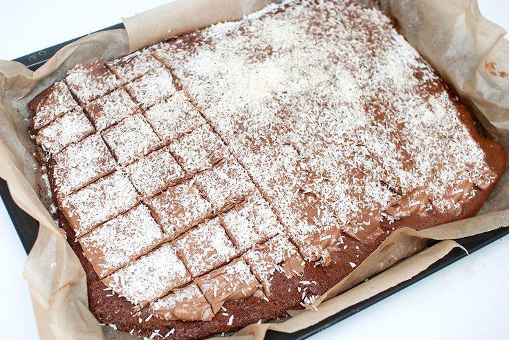 Vegetarbloggen | Sjokoladekake i langpanne